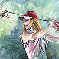 Miki Self Portrait Golfing by Miki De Goodaboom