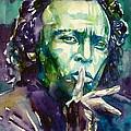 Miles Davis Watercolor Portrait.2 by Fabrizio Cassetta