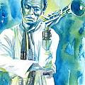 Miles Davis Watercolor Portrait.3 by Fabrizio Cassetta