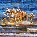 Military Beachhead Landing Photo Art by Thomas Woolworth