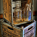 Milk Bottles And Crates by Lee Dos Santos