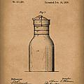 Milk Jar 1890 Patent Art Brown by Prior Art Design