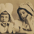 Milkmaid Sisters by Paul Ashby Antique Image