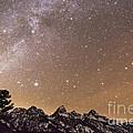 Milky Way Galaxy Over Teton Mountains by Mike Cavaroc