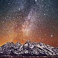 Milky Way Over Grand Teton by Chen Su