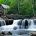 Mill And Waterfall by Larry Ricker