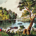 Mill Cove Lake by Currier and Ives