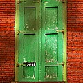 Mill Door In Dappled Sunlight by RC DeWinter