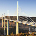 Millau Viaduct At Sunrise Midi Pyrenees France by Colin and Linda McKie