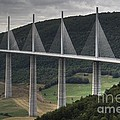 Millau Viaduct In France by Heiko Koehrer-Wagner
