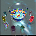 Millefiori Paperweight With Marbles  by Ann Stretton