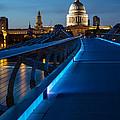 Millenium Bridge Blue Hour I by Adam Pender