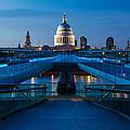 Millenium Bridge Blue Hour II by Adam Pender