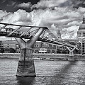 Millennium Bridge - St Pauls Cathedral by Kim Andelkovic