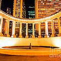 Millennium Monument Fountain In Chicago by Paul Velgos