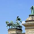 Millennium Monument In Budapest by Artur Bogacki