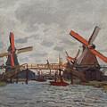Mills At Westzijderveld by Claude Monet