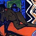Milly Asleep by Ernst Ludwig Kirchner