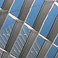 Milwaukee Art Museum Window Reflection 2 by Anita Burgermeister