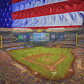 Milwaukee Brewers Miller Park Flag Digitally Painted 4 by David Haskett II