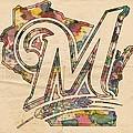 Milwaukee Brewers Poster Art by Florian Rodarte