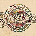 Milwaukee Brewers Poster Vintage by Florian Rodarte