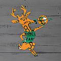 Milwaukee Bucks Basketball Team Logo Vintage Recycled Wisconsin License Plate Art by Design Turnpike
