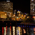 Milwaukee River And Downtown Skyline by Susan McMenamin