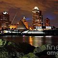 Milwaukee Skyline At Dusk by Bill Cobb