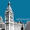 Milwaukee Skyline City Hall - Steel by DB Artist