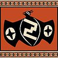 Mimbres Tribal Bat Spirit by Vagabond Folk Art - Virginia Vivier