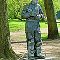 Mime In A Park In Tallinn-estonia by Ruth Hager