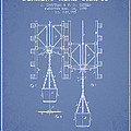 Mine Shaft Safety Device Patent From 1899 - Light Blue by Aged Pixel