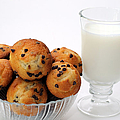 Mini Chocolate Chip Muffins And Milk - Bakery - Snack - Dairy - 1 by Andee Design