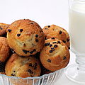 Mini Chocolate Chip Muffins And Milk - Bakery - Snack - Dairy - 2 by Andee Design