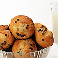 Mini Chocolate Chip Muffins And Milk - Bakery - Snack - Dairy - 3 by Andee Design
