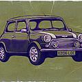 Mini Cooper - Car Art Sketch Poster by Kim Wang