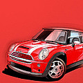 Mini Cooper S red by Etienne Carignan
