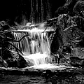Mini Falls Black And White by Deena Stoddard
