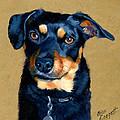 Miniature Pinscher Dog Painting by Alice Leggett
