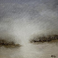 Minimalist Abstract Landscape Original Painting by Gray  Artus