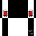 Minimalism Geometric Art Black White Red Abstract No.172. by Drinka Mercep