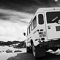 Ministerio De Medio Ambiente Land Rover At Teide National Park Tenerife Canary Islands Spain by Joe Fox