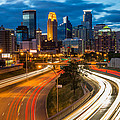 Minneapolis Light Trails by Mark Goodman