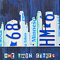 Minneapolis Minnesota City Skyline License Plate Art The Twin Cities by Design Turnpike
