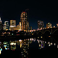 Minneapolis Night Skyline by Kristin Elmquist