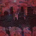Minneapolis Skyline Brick Wall Mural by Brian Reaves