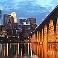 Minneapolis Skyline Photography Stone Arch Bridge by Wayne Moran