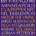 Minnesota Vikings by Jaime Friedman