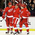 Minnesota Wild V Detroit Red Wings by Gregory Shamus